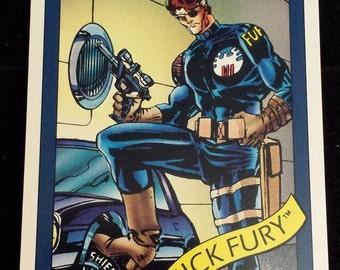 Nick Fury #5 - 1990 Marvel Universe Series 1 Base Trading Card