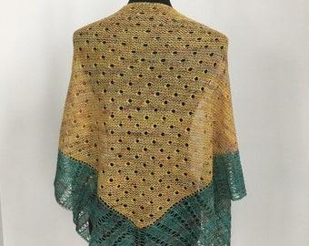 Wool Shawl Wrap Scarf, Summer Shawl Scarf Wrap, Lightweight Shawl Scarf Wrap, Dewdrops Shawl Scarf Wrap