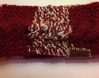 Candy Cane Lane Cable Knit Ear Warmer