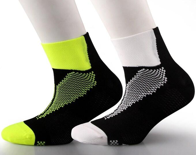 Samson® Black Running Ankle Socks Sport Walking Athletic Cycling