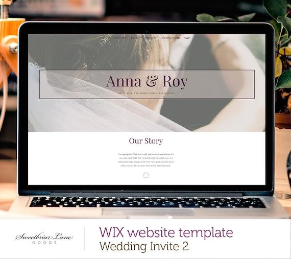 Eine Hochzeit Einladung Seite 2 WIX-Website-Templates