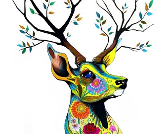 """Art Print """"King of Forest"""""""