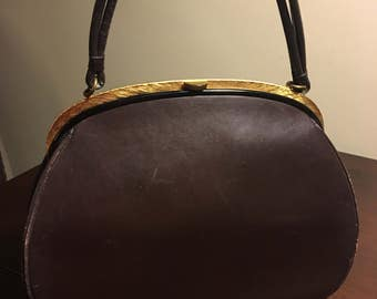 Bag by Dorian vintage evening purse from 1960s. Genuine calfskin. Used, good condition.