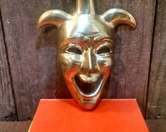Brass Jester Wall Hanging