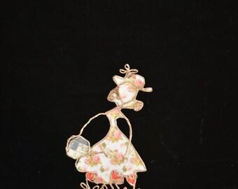 Paper figurine, planter, string sculpture, unique customizable creation Etlabobinettecherra, kraft paper poetry, handmade