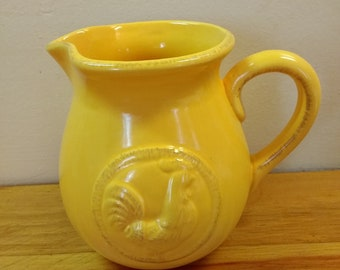 Home Essentials and Beyond Yellow Rooster Pitcher