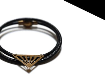 Bronze double triangle bracelet.