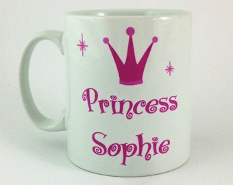 Princess Personalised With Any Name Gift Mug Cup Present