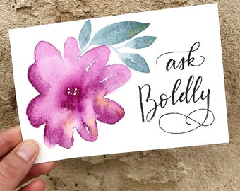 Original Artwork - Hand Lettered Quote on Watercolor Background