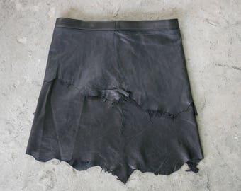 Festival leather skirt, tribal skirt festival fashion gypsy skirt, boho chic, burning man fashion, goth skirt, warrior skirt, pixie skirt