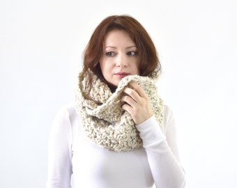 Knit Crochet Chunky Woman Man Infinity Scarf | The Dublin