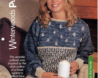 Winterwoods Pullover / Knit Pattern / House of White Birches 127133