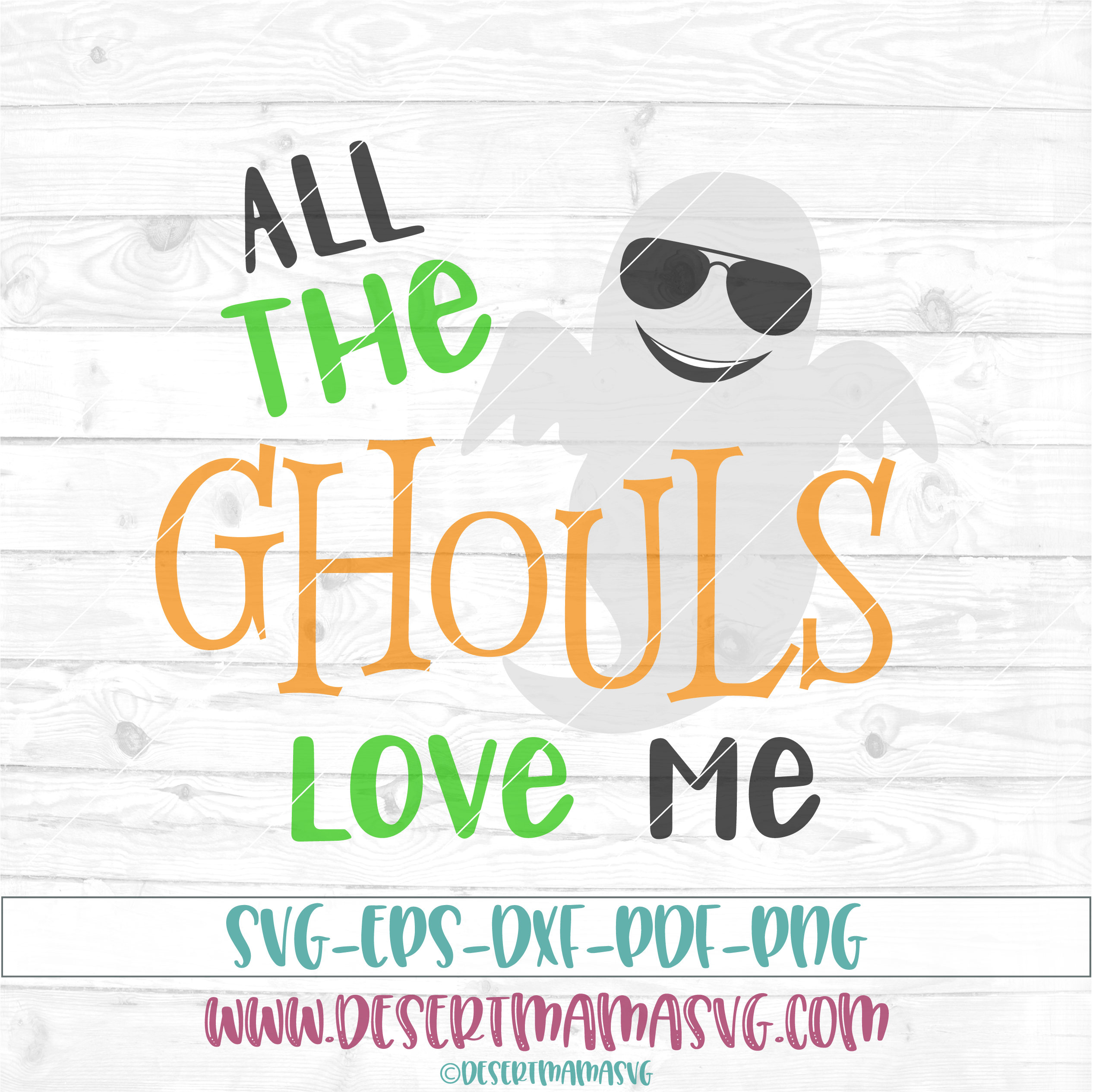 Download All the ghouls love me svg dxf png cricut cameo scan N