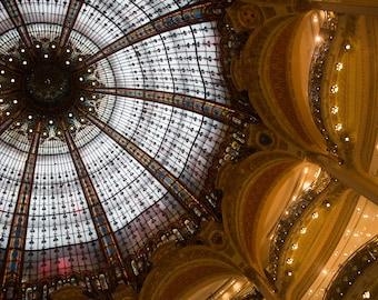 Parisian Architecture, Galleries Lafayette, Photography, Fine Art, Gary Brewster