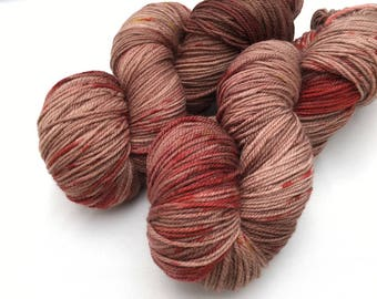 Hand dyed yarn Dandy sock -'Chilli chocolate'