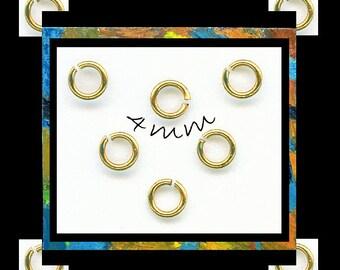 Brass Jump Rings 4mm | Brass jumprings | Round 21 gauge jump rings | 200 jump rings