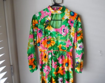 Vintage Peekaboo Dress - Size 7/8