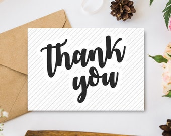 Printable Thank You Card / printable greeting card, thank you card, printable cards, thank you notes, printable notes, greeting cards