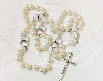 wedding rosary gift, wedding gift, catholic rosary, catholic Wedding prayer beads, catholic wedding gift,anniversary rosary,brides rosary