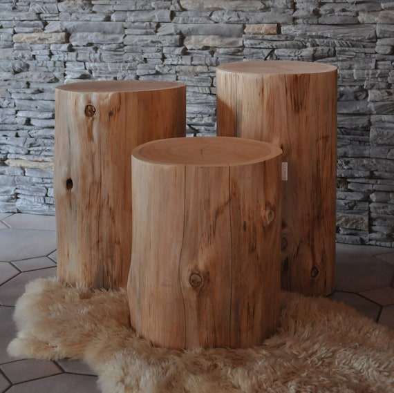 Raw Wood, NORMA Natural Tree Trunk Table, Side Table End Table, Stool, Log, Tree  Stump Table, Low Table, Coffee Table Idea