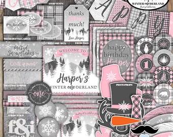Winter ONEderland Decorations | Winter Wonderland Decorations | ONEderland Birthday | Winter First Birthday | ONEderland Party | Printable
