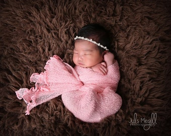 Baby Pink RTS Stretchy Soft Newborn Knit Wraps 80 colors to choose from, photography prop newborn prop wrap
