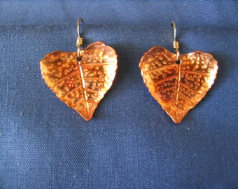 Cottonwood leaf earrings