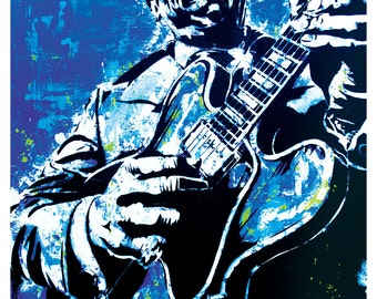"18 x 24"" Art print Poster - B.B. King - The Thrill is Gone-blues guitar"