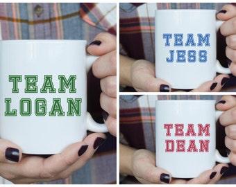 Team Logan, Jess or Dean | Gilmore Girls | Custom Mug | Rory Gilmore