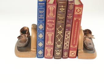 Baby Shoes Vintage Bookends - Antique Bookends for Children