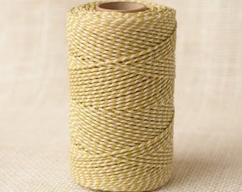 Full Spool Heavy Twine - 100 Yards - Saffron - 10 Ply Heavy Cotton Twine No. 10