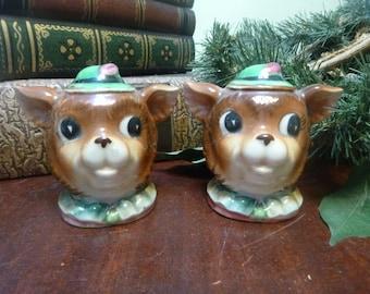 Vintage Robinhood Bear Salt and Pepper Shakers   (T)