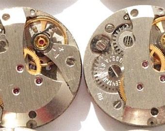 1 piece 20mm Round Watch Movement, Watch Parts, Steampunk Jewelry, Steampunk Supplies