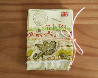 Beautiful Day Bird Vintage Hand Sewn Needle book