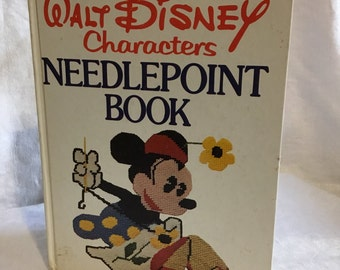 Vintage Walt Disney Characters Needlepoint Book 1976 Embroidery & Needlework Instructions and Patterns