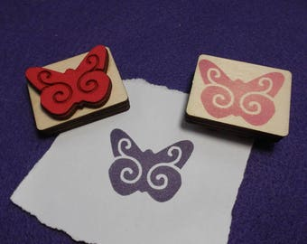 Stamp, butterfly, 4 x 3 cm (S10-0009A)
