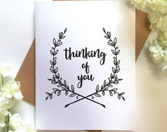 Thinking of You - Just Because - All Occasion - Sympathy Card - Any Occasion Card - Sympathy - In My Thoughts - Miss You Card - Love Card