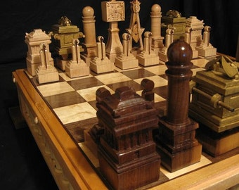 The Masonic Chess Set/Freemason's Chess by Jim Arnold
