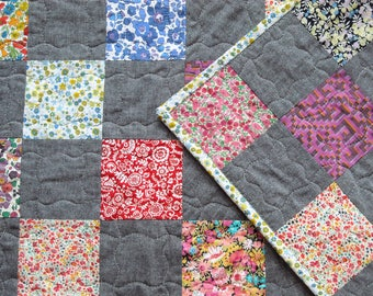 Baby Girl Quilt -  Baby Boy Quilt - Liberty of London Tana Lawn - Patchwork Crib Quilt
