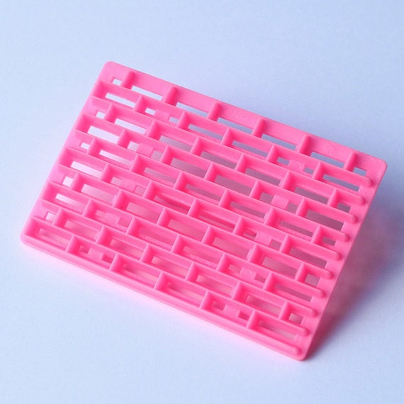 Brick work, plastic imprint stamp texture is for polymer clay, Mokume stamp, cookies, fondant cake decorating