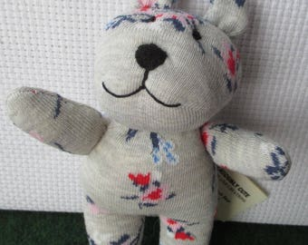 Seriously Cute Smiling sock teddy bear, ce, one of a kind