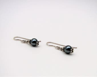 Hematite and Sterling Silver Lightweight Dangle Earrings