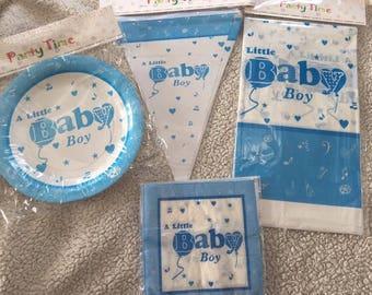 Baby boy tableware set baby shower