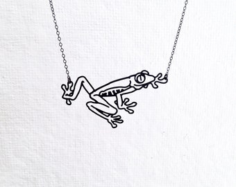 Frog Necklace, Tree Frog