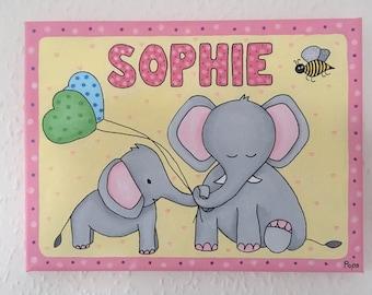 Nursery elephant picture