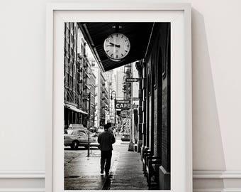 New York photography, New York City, Black and white photography, Soho street photography , monochrome, New York Gift, New York Photography