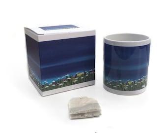 Art mug, Gift Mug, Seascape, Out To Sea painting by Lydia Dawson Artwork