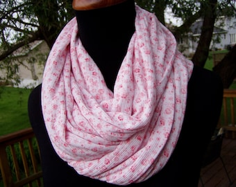 Infinity Scarf - Loop Scarf - Soft knit Print - Eternity Scarf - Circle Scarf