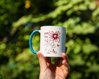 Elephant Mug Watercolor Ceramic Mug Unique Gift original art  Coffee Mug Animal Mug Tea Cup Art Illustration Art Printed mug Animal Gift