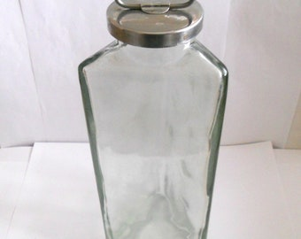 Vintage 3 Equal Sided Triangle Shaped Crystal Clear Glass Bottle